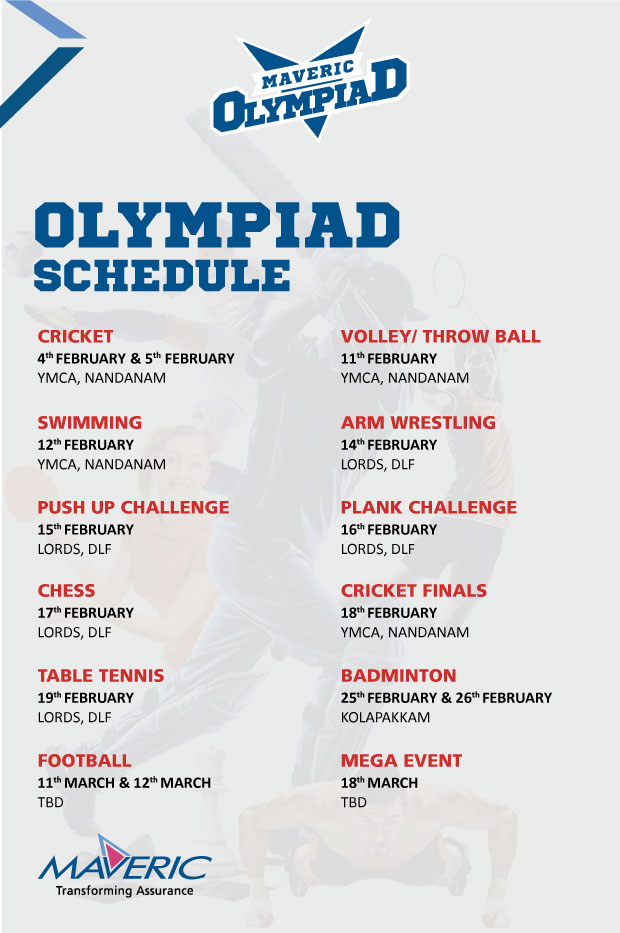 Schedule-Olympiad