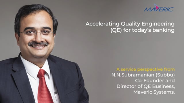 Accelerating Quality Engineering for today's banking